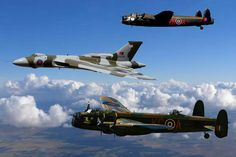 Vulcan with two Avro sisters