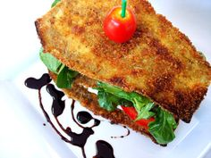 Eggplant Salad/ Sandwich - Proud Italian Cook (to low carb it I would change out to pork rinds instead of breadcrumbs)