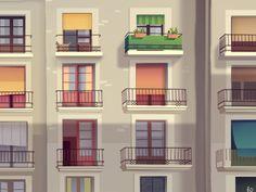 Balconies  by RomainTrystram #Design Popular #Dribbble #shots