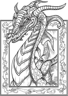 vsledek obrzku pro dragon and unicorn coloring book fantasy nouveau adult coloring books of dragons the art of herb leonhard free dragon printable - Free Printable Coloring Pictures