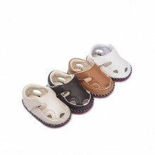 7b8f8926bc4e3 2019 Baby Sandals Footwear For Newborn PU Leather Soft Soles Summer  Anti-slip Toddler Crib