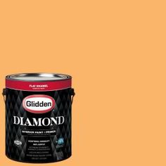 Glidden Diamond 1 gal. #HDGO55D Summer Lily Orange Flat Interior Paint with Primer-HDGO55DD-01FN - The Home Depot