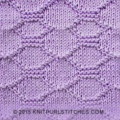 Block Quilting pattern | All you need to know is how to knit and purl.
