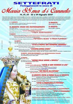Festeggiamenti in onore della  Basilica Madonna del Canneto -Settefrati...