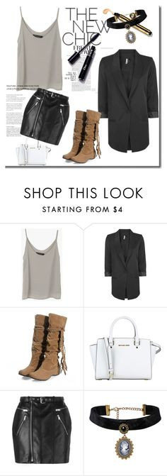 """""""Fashion 101: Oversize Blazer"""" by josehline on Polyvore featuring Topshop, MICHAEL Michael Kors and Yves Saint Laurent"""