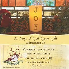 Little Birdie Blessings : 25 Days God Given Gifts ~ Day 15 ~ JOY