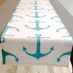 Table Runner  Beach NauticalWedding  Premier by homehaberdasher (Home & Living, Kitchen & Dining, Linens, Table Linens, Table Runners, home dec, table runner, table decor, table square, table cloth)