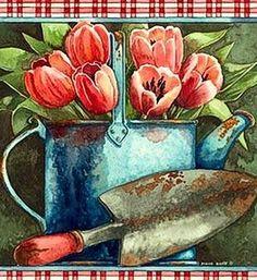Risultati immagini per diane knott artist Illustrations Vintage, Illustrations Posters, Illustration Art, Ephemeral Art, Flower Clipart, Country Art, Tole Painting, Watercolor Cards, Botanical Prints