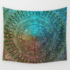 Cold Metal Flower Mandala Wall Tapestry by Mandala Magic by David Zydd - Small: x Entryway Decor, Wall Decor, Wall Art, Bedroom Decor, Cosy Bedroom, Mandala Tapestry, Wall Tapestry, Decorative Accessories, Decorative Boxes