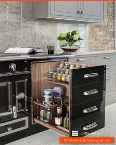 Modern Diy Projects Furniture Design Ideas For Kitchen Storage - Image 30 of 54 - - Make your own furniture by combining kitchen cabinets in different ways. This can be a weekend DIY project and can … Kitchen Pantry Design, Diy Kitchen Storage, Modern Kitchen Design, Kitchen Layout, Home Decor Kitchen, Interior Design Kitchen, Kitchen Furniture, Home Kitchens, Kitchen Ideas