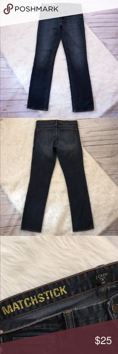 J. Crew Matchstick Jeans 28 Short J. Crew Matchstick Jeans. Size 28 Short. Dark wash. Great condition. J. Crew Factory Jeans