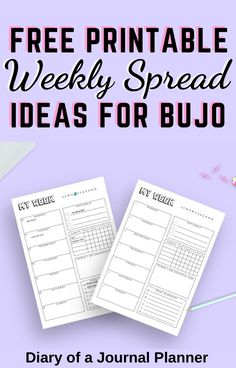 Running out of ideas for your bullet journal? Or maybe short on time? Get these 25 free printable weekly spreads for bullet journal! #bulletjournal #weeklyspreads #Bujo #bulletjournalprintables #freeprintables Bullet Journal Printables, Bullet Journal Layout, Bullet Journal Inspiration, Weekly Planner Template, Printable Planner, Free Printable, Bullet Journal For Beginners, Bujo Weekly Spread, Personal Planners
