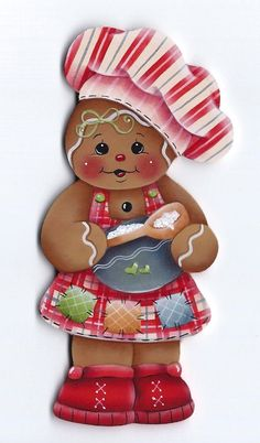 HP Gingerbread Girl Baker Fridge Magnet | eBay