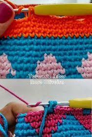 Tecendo Artes em Crochet: Minha Primeira Wayuu Bag Ficou Assim...Vem ver! Knit Basket, Old Quilts, Tapestry Crochet, Crochet Purses, Crochet Beanie, Double Knitting, Lana, Crochet Patterns, Textiles