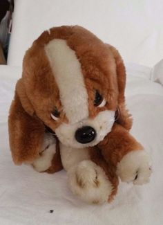 Vintage Applause stuffed plush puppy Sad Sam JR. Basset Hound Dog Sad Eyes  #Applause