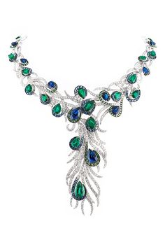 ✿ڿڰۣ astonishing! love the colors and the peacock style    #jewelry #peacock