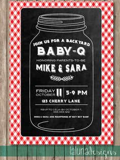 Bar B Que Vintage Baby Shower invitation | Baby showers, Bar b que ...