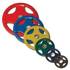 Color Coded Rubber Grip Plates. 255lb. Set includes: (2) 45lb. (2) 35lb. (2) 25lb. (2) 10lb. (4) 5lb. (2) 2.5 lb. plates. 355lb. Set includes: (4) 45lb. (2)