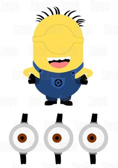 Pin the eye on the Minion Party Game Printable:                                                                                                                                                     More