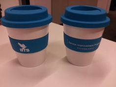 Thrive Promotional Products & Corporate Gifts - Client Project. You can drink your coffee and do a bit for the environment.  Eco or carry cups are available from Thrive Promotional in a wide range of colour lid, cup and band combinations.