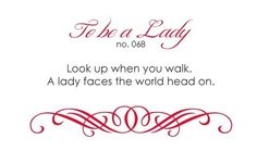 To Be A Lady No.68