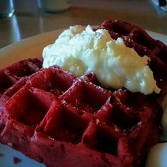 Red Velvet Waffles @ The Waffle (Los Angeles, CA)