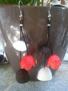 handmade cocoons jewelry - earrings No42b