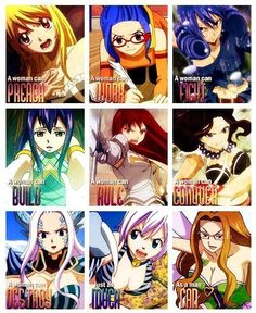 Motivation Fairy Tail women thing.