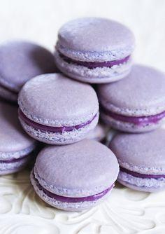 Black Currant Macarons Recipe