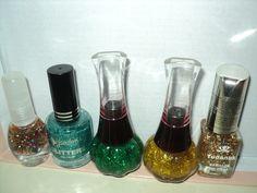 Glitters multicolor, turquesa, verde y dorados