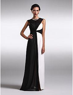 ts couture® vestido de noche formal más tamaño / vaina petite / columna de gasa barco palabra de longitud con criss cross – CLP $ 68.127