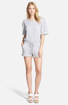 MICHAEL Michael Kors Roll Sleeve French Terry Romper available at #Nordstrom