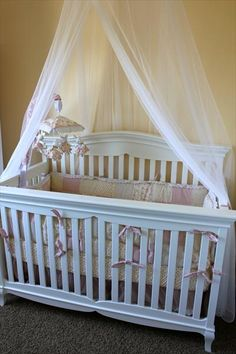 In Adi's room, im going to put a canopy over her crib and hang the butterfly mobile from the center! I cant wait to get it all done!
