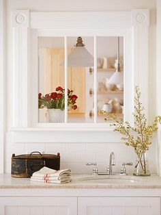 New kitchen window to living room small spaces 49 Ideas Updated Kitchen, New Kitchen, Kitchen Updates, Kitchen Ideas, Interior Windows, Interior Walls, Interior Design, Small Living Rooms, Living Area