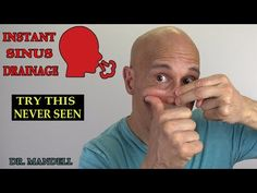 Nasal Septum Mobilization for Instant Sinus Drainage - (Discovered by Dr Alan Mandell, DC) Remedy For Sinus Congestion, Home Remedies For Sinus, Sinus Drainage, Sinus Infection Remedies, Natural Sinus Remedies, Natural Sinus Relief, Health Remedies, Sinus Pressure Relief, Sinus Headache Relief