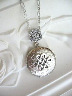 Silver Locket Necklace, Celtic Knot, LOCKET, Celtic Knot Necklace, Celtic Knot Pendant, Lockets, Celtic Jewelry, Filigree Locket, Pagan, xo on Etsy, $25.00