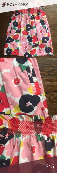 Mini Boden Floral Dress GUC- some fading from wash wear. Size 5-6y. Has pockets. Mini Boden Dresses