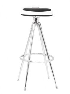 Clipse Barstool |   Black / White | Modern Furniture • Brickell Collection