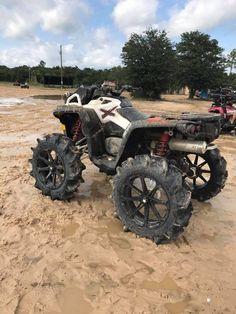 Quads and ATV's Lifted Cummins, Can Am Atv, Atv Motocross, Horse Riding Boots, Big Girl Toys, Go Car, Quad Bike, Atv Four Wheelers, Heavy Truck