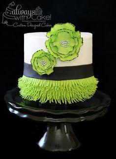 Flapper Inspired - by Alwayswithcake @ CakesDecor.com - cake decorating website