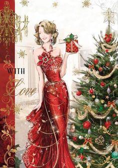 Vintage Christmas Brownie brownie 6 names Christmas Scenes, Noel Christmas, Christmas Fashion, Vintage Christmas Cards, Christmas Wishes, Christmas Pictures, Xmas Cards, Christmas Greetings, Christmas And New Year