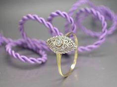 """Schnäppchen: Ring""""Antiker Ring mit 1 Altschliff-Diamant ca. 0,05ct"""" 14K/585 Gold"""