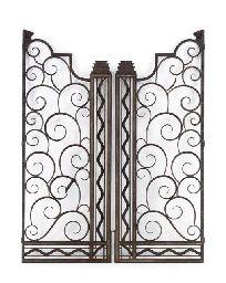 EDGAR BRANDT (1880-1960)  A PAIR OF WROUGHT-IRON GATES, CIRCA 1930