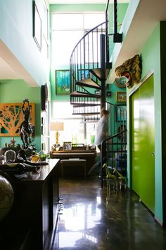 Matthew's Magical Woodland Wonderland House Tour | Apartment Therapy....BOLD