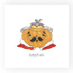 Art Print PumpKing by OdelDrawings on Etsy