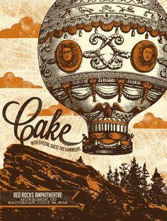 Cake- Gig poster.