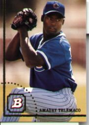May 16, 1996  Amaury Telemaco's debut with the Chicago Cubs is an impressive one as gives up just one hit over 7 innings as the Cubs defeat the Houston Astro's in Houston.  Photo from Agony and Ivy  http://bit.ly/ITeSq1