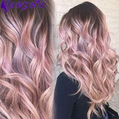 Tendance Couleur & Coiffure Femme Description Rooted Rose Gold Unicorn – Rose Gold Hair Ideas That'll Have You Dye-Ing For This Magical Color – Photos Pastel Pink Hair, Hair Color Pink, New Hair Colors, Pastel Colors, Brown And Pink Hair, Light Pink Hair, Pastel Nails, Colours, Pretty Pastel