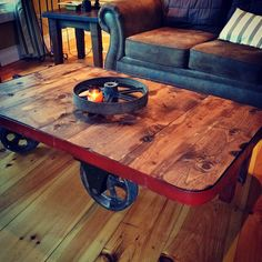 Upcycled Metal Nutting Factory Cart #Antique, #Industrial, #Metal, #Nutting, #Relic, #Table, #Upcycled