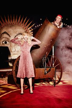 Welcome to the Circus: Frances Coombe by Ellen von Unwerth for Harper's Bazaar UK November 2015 - Gucci Fall 2015